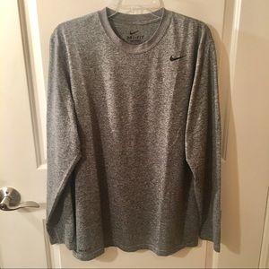 Nike Dri-Fit Long Sleeve Dark Gray T-Shirt Size L